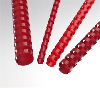 Plastové hřbety 10 červené, 100 ks balení