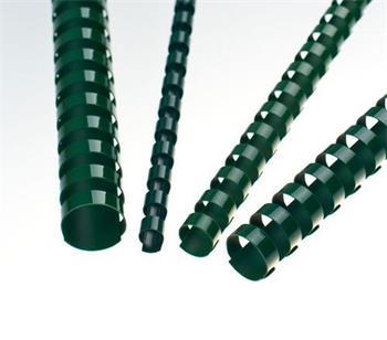 Plastové hřbety 12,5 zelené, 100 ks balení