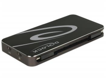 Delock USB Typ-C™ 3.1 Dokovací Stanice HDMI + DP + VGA 1080p, USB Hub a funkce USB PD