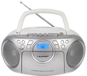 Rádiomagnetofon BLAUPUNKT BB16WH FM PLL CD/MP3/USB/AUX, kazety
