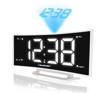 Rádiobudík BLAUPUNKT CRP7WH, FM PLL, projekční, USB, bílý