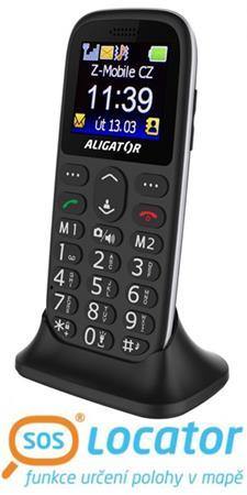 ALIGATOR A510 Senior černý + stolní nabíječka