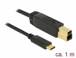 Delock USB 3.1 Gen 2 (10 Gbps) kabel Type-C na Typ-B 1 m