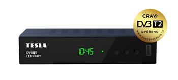TESLA DVB-T/T2 přijímač Vista T2/ Full HD/ H.265/HEVC/ CRA ověřeno/ PVR/ EPG/ USB/ HDMI/ SCART/ černý