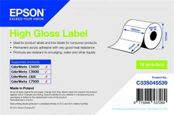 EPSON High Gloss Label - Die-cut Roll: 102mm x 51mm, 610 labels