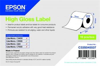 EPSON High Gloss Label - CONTINUOUS ROLL: 76MM X 33M