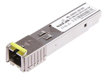 MaxLink 1.25G SFP optický modul, WDM(BiDi), SM, Tx 1550/Rx1310nm, 20km, 1x SC konektor, DDM, Cisco compatible