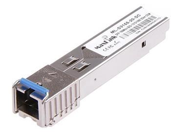 MaxLink 1.25G SFP optický modul, WDM(BiDi), SM, Tx 1310/Rx1550nm, 20km, 1x SC konektor, DDM, Cisco compatible