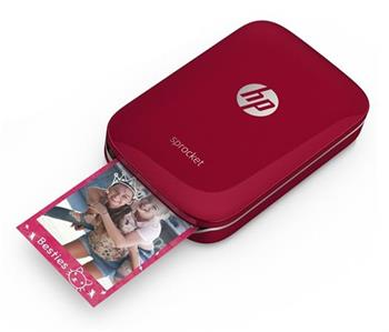 HP Sprocket Photo Printer - Red (5x7,6 cm, 40s/strana, BlueTooth)