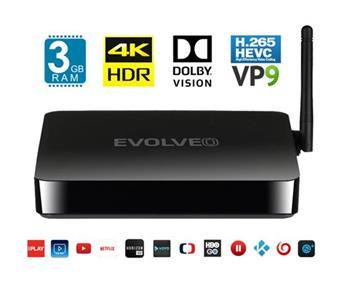 EVOLVEO MultiMedia Box M8, Octa Core multimediální centrum, 3GB RAM, 16GB paměť, BT, HDMI, Wifi