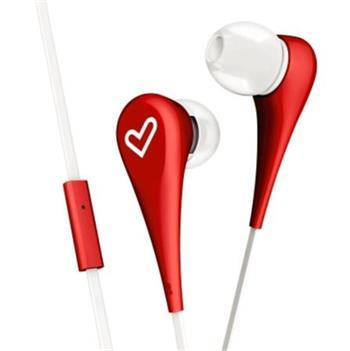 ENERGY Earphones Style 1+ Red, sluchátka s mikrofonem, 90±3dB, 3.5 mm mini jack