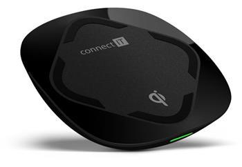 CONNECT IT Qi CERTIFIED Wireless Fast Charge bezdrátová nabíječka, 10 W, černá
