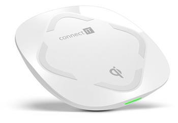 CONNECT IT Qi CERTIFIED Wireless Fast Charge bezdrátová nabíječka, 10 W, bílá