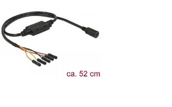 Navilock Connection Cable MD6 female serial > 5 pin pin header, pitch 2.54 mm TTL (5 V) 52 cm