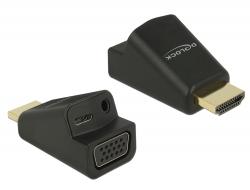 Delock Adaptér HDMI-A samec > VGA samice, s Audio
