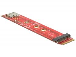 Delock Adaptér M.2 key B samec > M.2 key B slot port saver + Nano SIM slot