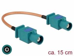 Delock Anténí kabel FAKRA Z samice > FAKRA Z samec RG-316 15 cm