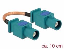 Delock Anténí kabel FAKRA Z samice > FAKRA Z samec RG-316 10 cm
