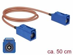 Delock Anténní kabel FAKRA C samice > FAKRA C samice RG-316 50 cm