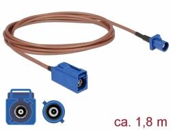 Delock Anténní kabel FAKRA C samice > FAKRA C samec RG-316 1,8 m