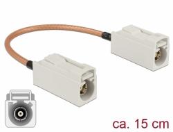 Delock Anténní kabel FAKRA B samice > FAKRA B samice RG-316 15 cm