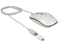 Delock Optická 4-tlačítková USB Typ-A + USB Type-C™ myš pro stolní počítače