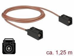Delock Anténní kabel FAKRA A samice > FAKRA A samice RG-316 1,25 m