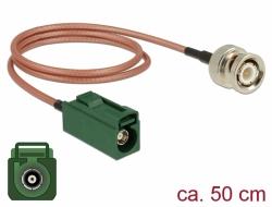 Delock Anténní kabel FAKRA E samice > BNC samec RG-316 50 cm