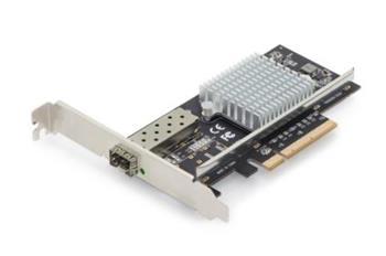 DIGITUS Karta SFP + 10G PCI Express včetne držáku s nízkým profilem, čipová sada Intel JL82599EN