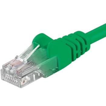 PremiumCord Patch kabel UTP RJ45-RJ45 level 5e 0.5m zelená