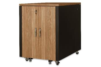 Digitus SOUNDproof Cabinet 1000x750x1130 mm, wooden surface teak metal parts black RAL 9005
