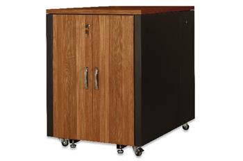 Digitus SOUNDproof Cabinet 1000x750x1130 mm, wooden surface walnut metal parts black RAL 9005