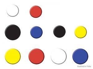 Magnety NOBO, barevné 20mm