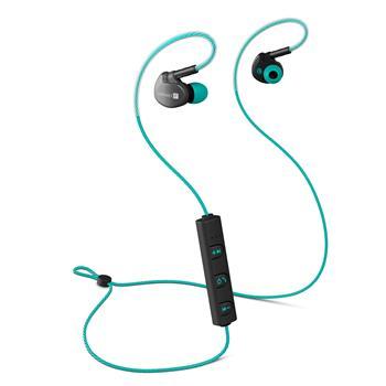 CONNECT IT Wireless Sport Sonics Bluetooth sluchátka do uší s mikrofonem, tyrkysová