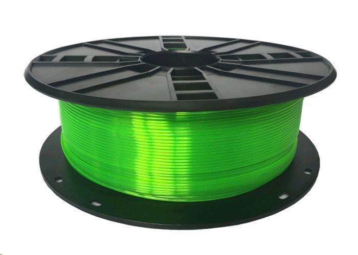 GEMBIRD Tisková struna (filament), PETG, 1,75mm, 1kg, zelená