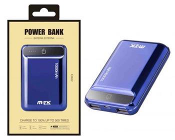 Aligator Power Bank PLUS K3632 s 2USB, 10000mA, modrá