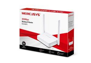 MERCUSYS MW301R Wi-Fi N Router, 300Mbps, 1 10/100M WAN + 2 10/100M LAN, 2 fixed antennas