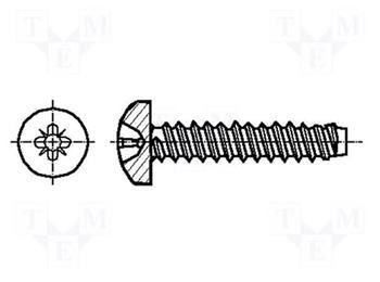 šroubek M2,2x8 pro spojky SC,SCD,LC,E2000 - samořezný 1ks