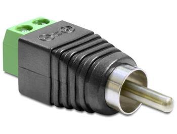Delock Adaptér RCA samec > svorkovnice 2 piny
