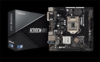 ASROCK MB H310CM-DVS (intel 1151v2 coffee lake, 2x DDR4 2666, GLAN, 4xSATA3, USB3.0, VGA +DVI, mATX)
