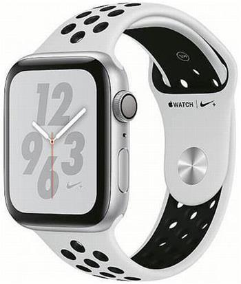Apple Watch Nike+ 44mm stříbrný hliník s platinovým/černým sportovním řemínkem Nike (2018)