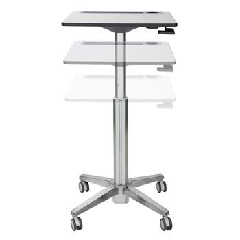 ERGOTRON LEARNFIT™, ADJUSTABLE STANDING DESK, CLEAR ANODIZED, pracovní pojízdný stolek, k sezení i stání
