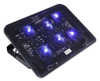 EVOLVEO ANIA 3, chladicí podstavec pro notebook, polohovatelný, reg. ot., 6x vent.