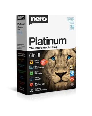Nero Platinum 2019 - CZ - 6 aplikací v 1