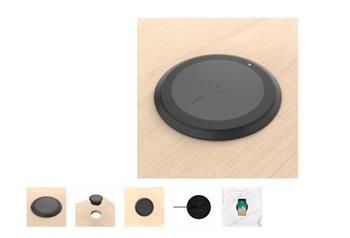 Belkin 230V nabíječka bezdrátová 10W Qi plochá určená pro otvory v kancelářských stolech - černá