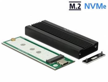 Delock Externí pouzdro pro M.2 NVMe PCIe SSD se SuperSpeed USB 10 Gbps (USB 3.1 Gen 2) USB Type-C™ samice