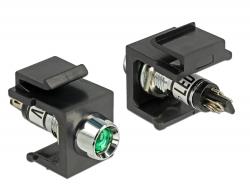 Delock Keystone zelený LED 6 V, černá