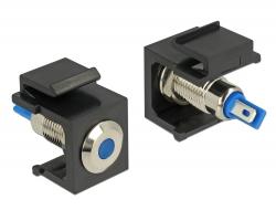Delock Keystone modrý LED 6 V plochý, černá