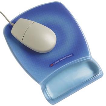 3M Podložka pod myš s oporou zápěstí - modrá (MWJ309BE)