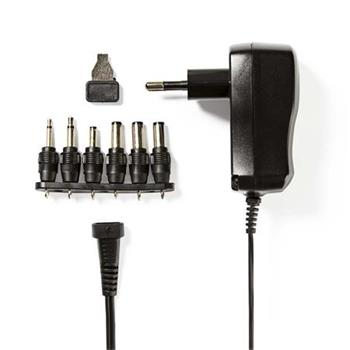 Nedis ACPA006 - Univerzální napájecí adaptér | 3/4,5/5/6/7,5/9/12 V DC | 0,6 A